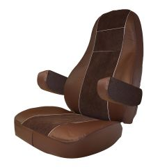 Brown Leather & Corduroy Seat Cover for Volvo 2004-2018