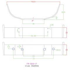 "Kenworth T660 18"" Set Back Chrome Bumper with Fog Light Cutouts"