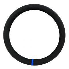 """18"""" Black & Blue Suede Steering Wheel Cover"""