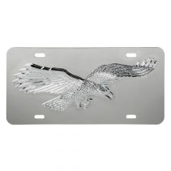 Stainless Steel License Plate with 3D Flying Eagle