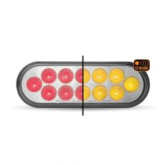 "6-1/2"" Dual Revolution Red/Amber Strobe LED Light"