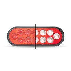 "6-1/2"" Anodized Dual Revolution Red/White LED Light"