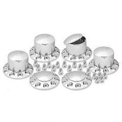 Front & Rear Axle Cover Kit, Dome, 33mm Push-On