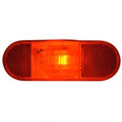 Red Oval Sealed Side Marker Light Only