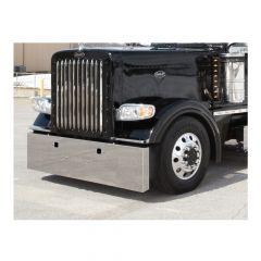 """Peterbilt 389 20"""" Stainless Steel Box End Bumper"""