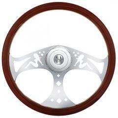 """18"""" Sitting Lady Steering Wheel"""