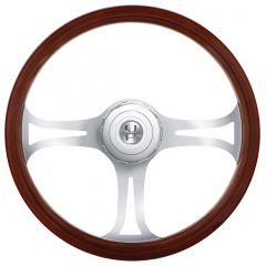 "18"" Chrome Blade Steering Wheel"
