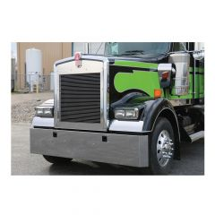 """Kenworth W900L 20"""" Stainless Mitered End Bumper"""