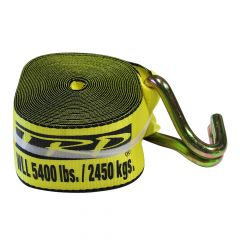 """Winch Strap with J-Hook 4"""" x 30'"""