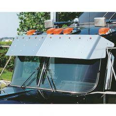 """Kenworth 13"""" Visor for Curved Windshields w/ LEDs"""
