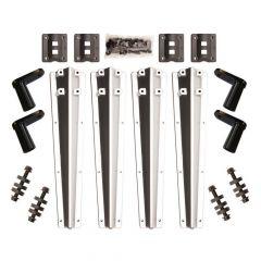 Liquid Platinum Plastic Bolt-On Fender Bracket Kit