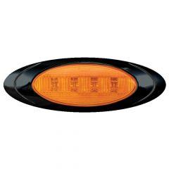 """6-5/8"""" 4 LED Magnum 1 Marker Light with Black Bezel"""