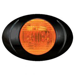 """3"""" 2 LED Magnum 3 Marker Light with Black Bezel"""