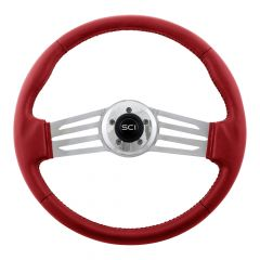 "18"" Italian Sky Vinyl 2-Spoke Steering Wheel"