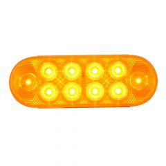 "6"" Oval 10 LED Sealed Highway Style Light"