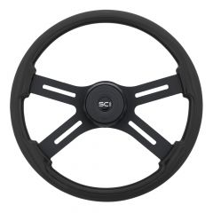 Onyx Wood Steering Wheel 18""