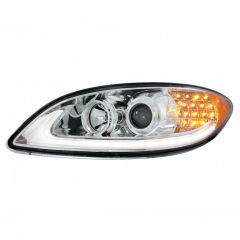 International Prostar Chrome Projection Headlight with LED Position and Turn Signal Lights