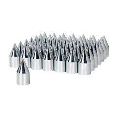 33mm Chrome Plastic Spike Nut Cover - Push On 60PK