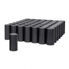 33mm Black Cylinder Nut Cover - Thread On 60PK