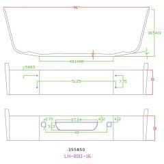 "Volvo VNL 16"" Set Back Chrome Bumper with Cutouts"
