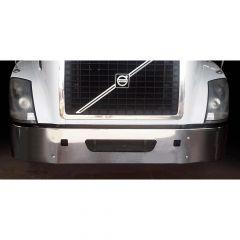 "Volvo VNL 14"" Set Back Chrome Bumper with Cutouts"
