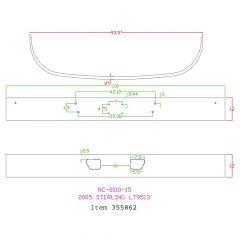 """Sterling LT9500 12"""" Set Back Chrome Bumper"""