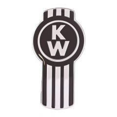 Kenworth Original Style Emblem in Chrome & Black