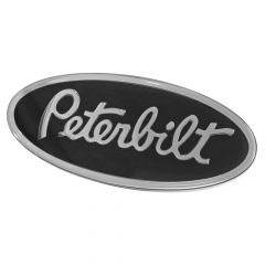 Black and Chrome Peterbilt Oval Emblem