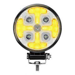 """4.5"""" Amber Cross Strobe 25 LED Work Lamp"""