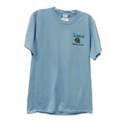 2020 Walcott Truckers Jamboree T-shirt, 2X Light Blue