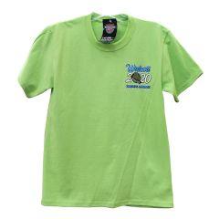 2020 Walcott Truckers Jamboree T-shirt, 2X Lime Green