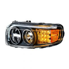 Peterbilt Blackout LED Headlight with Turn and Position Light Bars