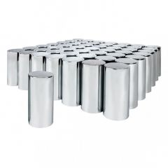 33mm Chrome Plastic Tube Nut Cover, Thread On 60PK
