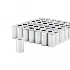 33mm Chrome Plastic Tube Nut Cover - Push On 60PK