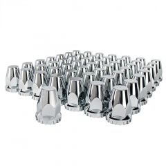 33mm Chrome Plastic Tapered Nut Cover Push On 60PK