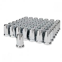 33mm Chrome Plastic Tall Nut Cover - Push On 60PK