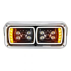 Blackout 10 LED Projection Headlight with Turn Signal and Position Bar