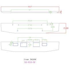 "16"" Tapered Chrome Bumper for Mack SuperLiner II"