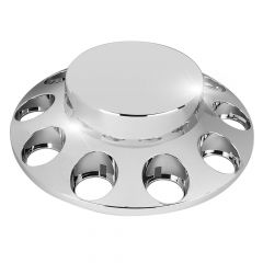 Flat Top Chrome Front Axle Cover Kit