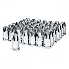 33mm Chrome Plastic Nut Cover - Thread On 60-Pack