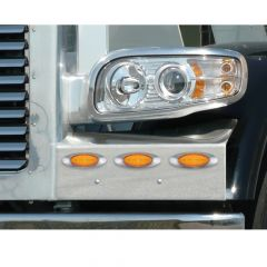 Peterbilt 389 Fender Guard w/ M1 Amber LED with Clear lens