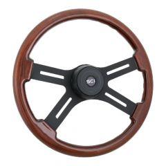 """18"""" Onyx  Glossy Mahogany Steering Wheel"""