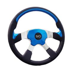 Blue Four Spoke Traveler Steering Wheel 18""