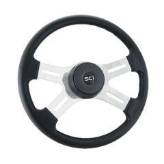 "4 Spoke Polyurethane Steering Wheel 16"""