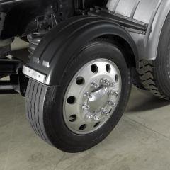 "Carbon Fiber 12""W Poly Lift Axle Fenders"