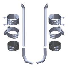 "Kenworth W900L 7"" x 108"" Boilermaker Exhaust Kit"