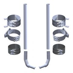 """Kenworth W900L 7"""" x 108"""" Stove Pipe Exhaust Kit"""