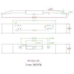 "Peterbilt 320 COE 13"" Open End Chrome Bumper"