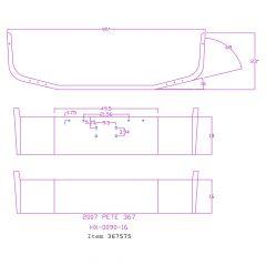 "Peterbilt 367 16"" Set Back Chrome Bumper"