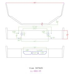 "Volvo VNL 14"" Set Back Axle Chrome Bumper"